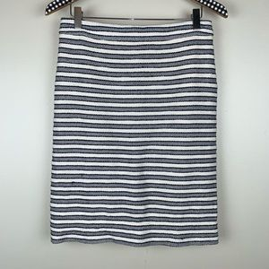 J. Crew Factory Striped Terry Pencil Skirt W3323